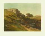 Landscape at Ornans Collectable Print by Gustave Courbet