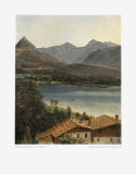 Wolfgangsee, Lake Wolfgang in the Salzkammergut Collectable Print by Ferdinand Georg Waldmueller