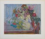 Violetter Blumenstrauss Sammlerdrucke von Pierre Bonnard