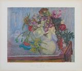Mauve Bouquet Collectable Print by Pierre Bonnard