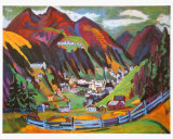 View of Davos Poster by Ernst Ludwig Kirchner