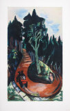 Winding Path in the Black Forest Collectable Print by Max Beckmann