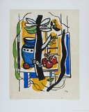 Still Life with Fruits Samlingstryck av Fernand Leger