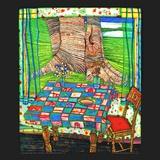 Insel der Verlorenen Wuensche Kunstdruck von Friedensreich Hundertwasser