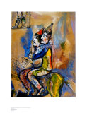 Two Clowns on a Horse-Back Prints by Marc Chagall