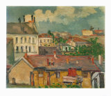 Faubourg au Printemps Collectable Print by Paul Cézanne