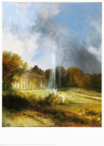 The Castle Sanssouci Print by Karl Blechen