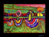 Downtownlane, c.1971 Poster von Friedensreich Hundertwasser