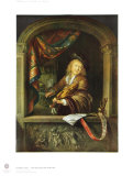 The Violonist at the Window Collectable Print by Gerard Dou