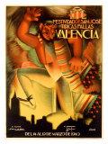 Valencia Festividad Giclée-tryk af Fulgencio