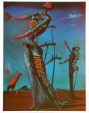 燃えるキリン, 1937 ポスター : サルバドール・ダリ