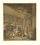 The Calving Cow Samlertryk af Paulus Potter