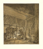 The Calving Cow Collectable Print by Paulus Potter