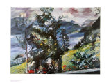 View of Lake Walchen Prints by Lovis Corinth