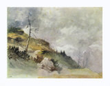 Landscape in the Mountains Collectable Print by Friedrich Gauermann