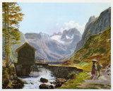 Dachstein and Lake Gosausee Samlertryk af Jakob Alt