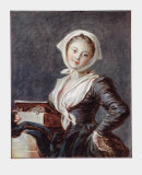 Girl with a Marmot Collectable Print by Jean-Honoré Fragonard