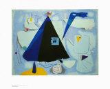 Das Schwarze Zelt Kunstdrucke von Willi Baumeister
