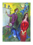 The Artist and His Model Collectable Print by Marc Chagall