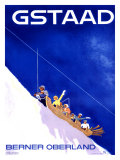 Gstaad, Berner Oberland Reproduction procédé giclée par Alex W. Diggelmann
