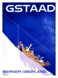 Gstaad, Berner Oberland reclameposter Gicléedruk van Alex W. Diggelmann