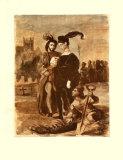 Hamlet and Horatio Samlertryk af Eugene Delacroix
