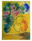 Sun and Mimosas Print by Marc Chagall
