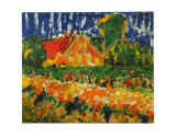 House in Autumn, 1908 Prints by Erich Heckel