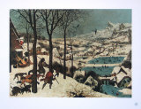 Winter, Hunters in the Snow Samlertryk af Pieter Bruegel the Elder