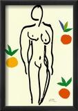 Nu Aux Oranges Posters par Henri Matisse