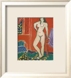 Pink Nude, Red Interior, c.1947 Art by Henri Matisse