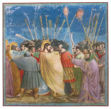 The Kiss of Judas Collectable Print by Giotto di Bondone