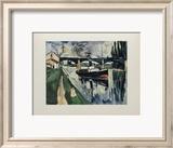 La Seine a Poissy, 1908 Kunstdrucke von Maurice de Vlaminck