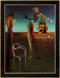 Femme &#224; t&#234;te de roses Poster par Salvador Dal&#237;