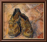 Pair of Shoes Framed Giclee Print by Vincent van Gogh