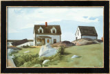 Houses Of Squam Light Affiches par Edward Hopper
