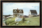 Houses Of Squam Light Affiches par Edward Hopper