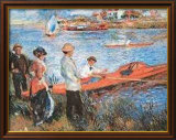 Oarsmen at Chateau, 1879 Poster by Pierre-Auguste Renoir