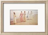 Promenade on the Beach Planscher av Michael Peter Ancher