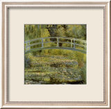 Water Lily Pond and Bridge Posters by Claude Monet