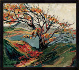 Tree in Autumn Framed Giclee Print by Emily Carr