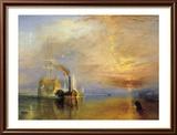 Das Kriegsschiff Temeraire Poster von J. M. W. Turner