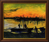 The Stevedores in Arles Estampe encadrée par Vincent van Gogh