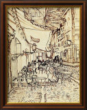 Study for the Cafe Terrace at Night Framed Giclee Print by Vincent van Gogh