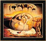 Enfant géopolitique observant la naissance de l'homme nouveau Poster par Salvador Dalí