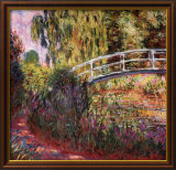 Japanese Bridge Print by Claude Monet