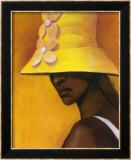 Le chapeau jaune Poster par Laurie Cooper