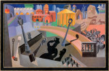 Mechanized City from the Shadows, 1920 Posters av Fortunato Depero