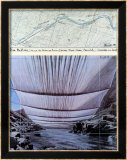 Arkansas River from Underneath Posters av Christo