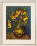Bell Lilies in a Copper Vase Print by Vincent van Gogh